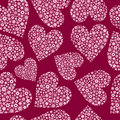 Seamless Tile of Flower Filled Hearts Royalty Free Stock Photography