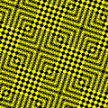 Seamless tile pattern with 3d effect Stock Photo