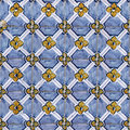 Seamless tile pattern of ancient ceramic tiles Stock Photos