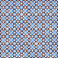 Seamless tile pattern of ancient ceramic tiles Royalty Free Stock Photo