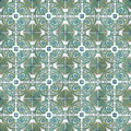 Seamless tile pattern of ancient ceramic tiles Stock Photo