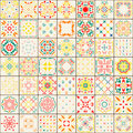 Seamless tile pattern. Colorful boho pattern. Ornament pattern. Royalty Free Stock Photo