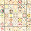 Seamless tile pattern. Colorful boho pattern. Ornament pattern. Royalty Free Stock Photo
