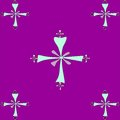 Seamless tile pattern of coptic crosses a tiled pastel colored on a purple background Royalty Free Stock Photo
