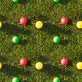 Seamless tile pattern of grass color balls Stock Photography