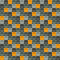 Seamless tile pattern made of rounded squares in shades of gray
