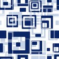 Seamless tile pattern retro background with blue rectangles Stock Images