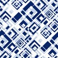 Seamless tile pattern retro background with blue rectangles Royalty Free Stock Photos