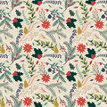 Seamless Tileable Christmas Holiday Floral Background Pattern Royalty Free Stock Photo