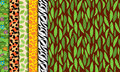 Seamless, Tileable Jungle or Zoo Animal Themed Backgrounds Royalty Free Stock Photo