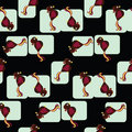 Seamless tiled pattern of birds Stock Photos