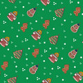 Seamless tiling gingerbread Christmas texture Stock Image