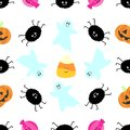 Seamless tiling Halloween texture Royalty Free Stock Photo