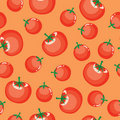 Seamless tomato background Stock Photos