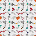 Seamless tool pattern Stock Photography
