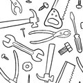 Seamless tools vector background Stock Photos