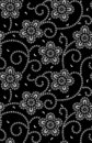 Seamless traditional bandanna pattern black and white