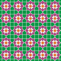 Seamless traditional floral islamic ornament Stock Photo