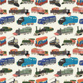 Seamless train pattern Royalty Free Stock Images