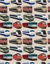Seamless train pattern Royalty Free Stock Photography
