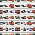 Seamless train pattern Stock Image