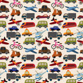Seamless transport pattern Royalty Free Stock Photos