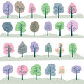 Seamless tree Royalty Free Stock Images