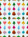 Seamless tree pattern Royalty Free Stock Image