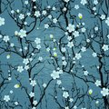 Seamless Tree Pattern. Japanes...