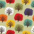 Seamless tree pattern vector illustration of the Stock Photo