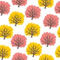 Seamless tree pattern vector illustration of the Royalty Free Stock Photo