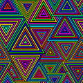 Seamless Triangle Pattern Royalty Free Stock Photography