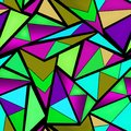 Seamless triangles neon pattern Royalty Free Stock Photo