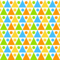 Seamless triangles circles background pattern