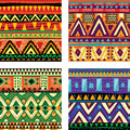Seamless tribal texture Royalty Free Stock Images