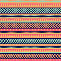 Seamless tribal texture tribal pattern colorful ethnic striped geometric borders traditional ornament hand drawn abstract Royalty Free Stock Images