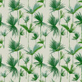 Seamless Tropical Palm Leaves Background. Exotic Summer Texture Royalty Free Stock Photo