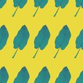 Seamless tropical pattern with banana leaves. Vector illustration