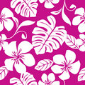 Seamless Tropical Pink Bikini Pattern Royalty Free Stock Image