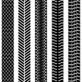 Seamless truck tyre tracks black and white template Royalty Free Stock Photos