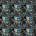 Seamless twirls abstract colorful background pattern Royalty Free Stock Image