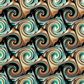 Seamless twirls abstract colorful background pattern Stock Photography