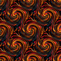 Seamless twirls abstract colorful background pattern Royalty Free Stock Photos