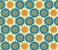 Seamless twisted flowers pattern