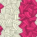 Seamless two colors hand-drawn lines background Royalty Free Stock Photos