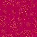 Seamless umbrella pattern Royalty Free Stock Photo