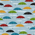 Seamless umbrella pattern Royalty Free Stock Photos