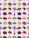 Seamless umbrella pattern Royalty Free Stock Images