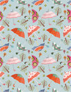 Seamless umbrellas pattern Royalty Free Stock Photography