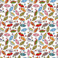 Seamless Umbrellas pattern Stock Photography